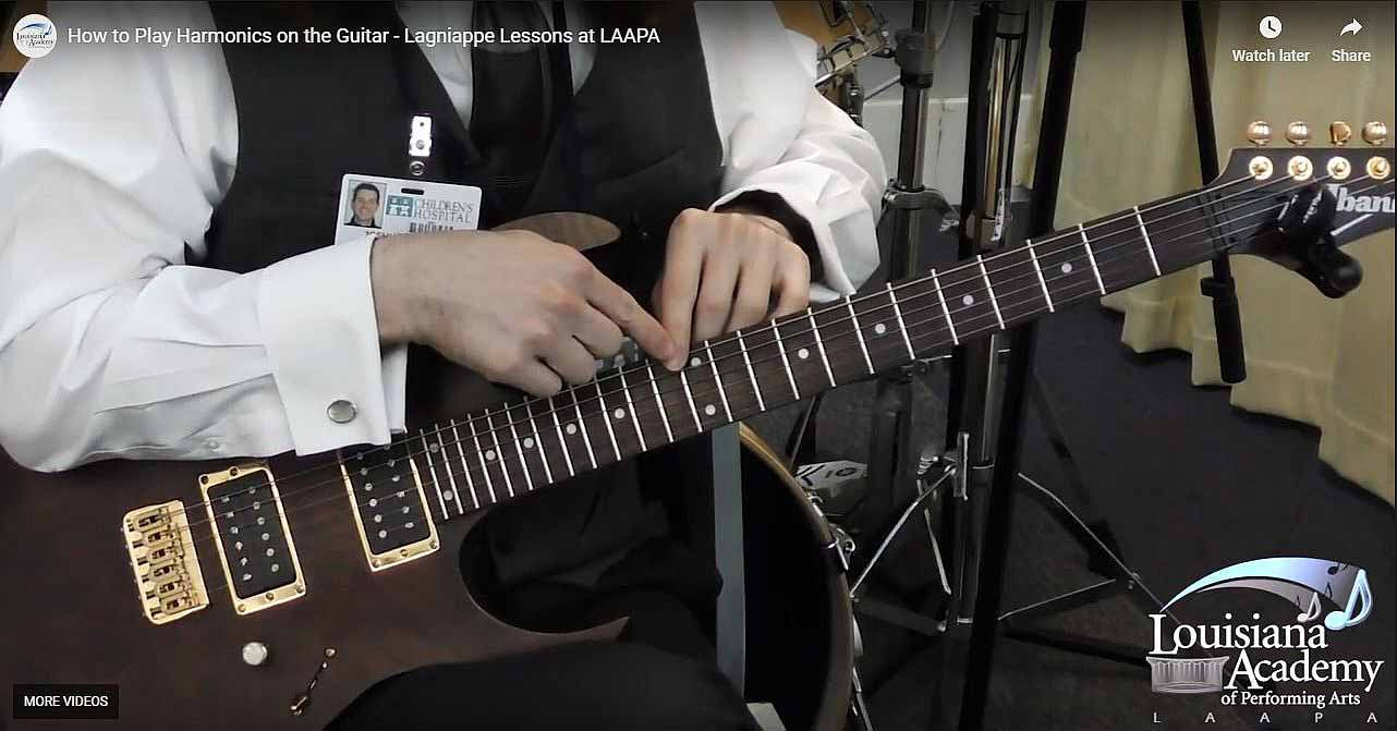 How to Play Harmonics on the Guitar at LAAPA in New Orleans, Covington, and Mandeville, LA
