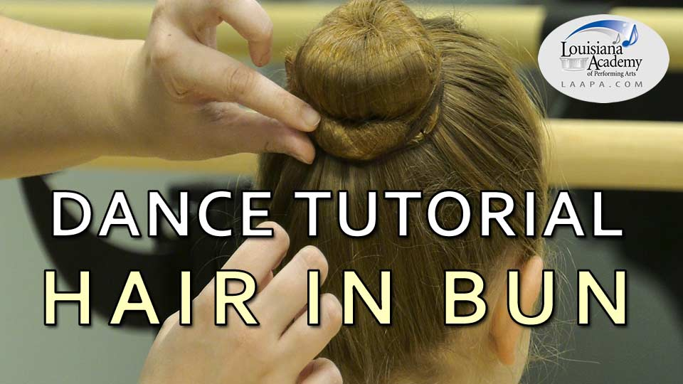 Learn how to set your hair in a bun for ballet class with Ms. Mary.