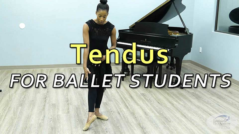 Tendus for ballet students with Ms. Kaylin